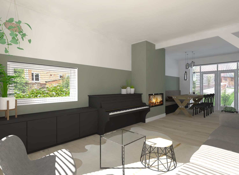 Woonkamer En Keuken : Interieurontwerp keuken en woonkamer in hengelo suzanne ros